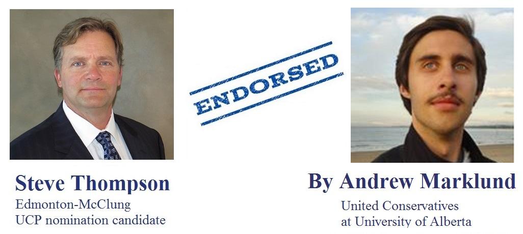 Andrew Marklund United Conservatives at University of Alberta endorsement