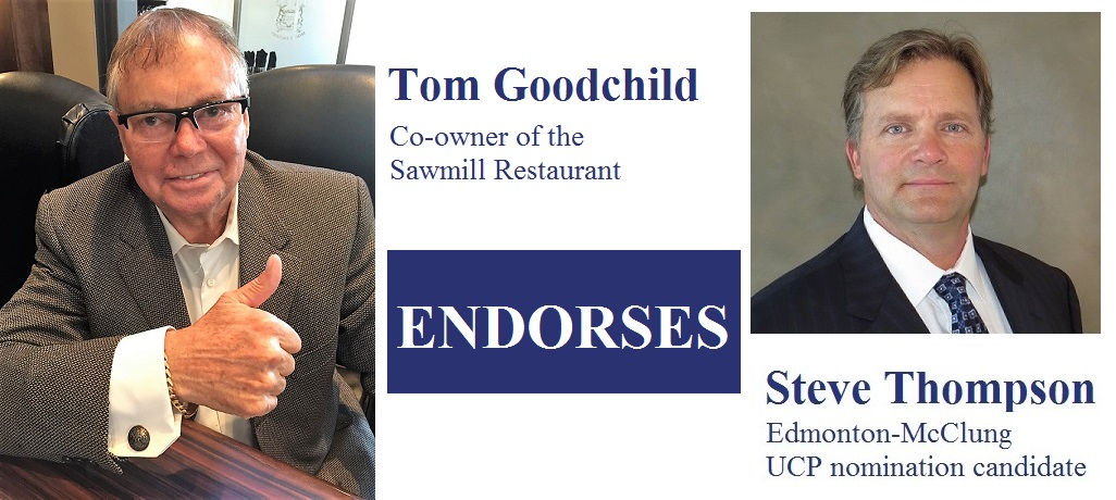 Tom Goodchild Sawmill Restaurant owner  endorsement