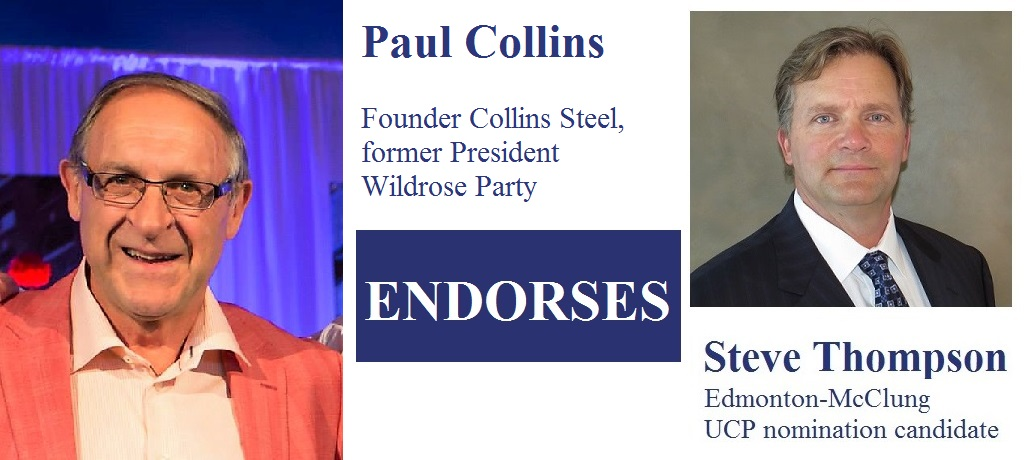 Paul Collins, founder Collins Steel, former President Wildrose Party