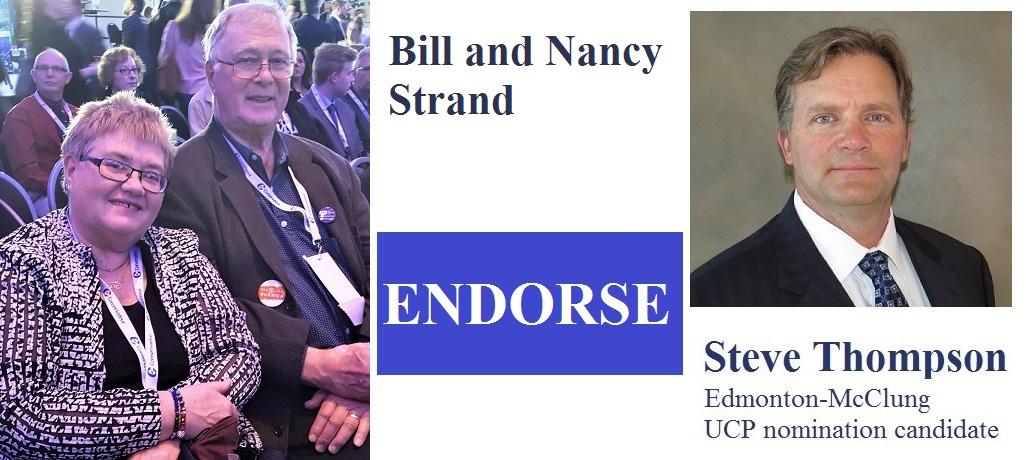 Bill and Nancy Strand Endorsement