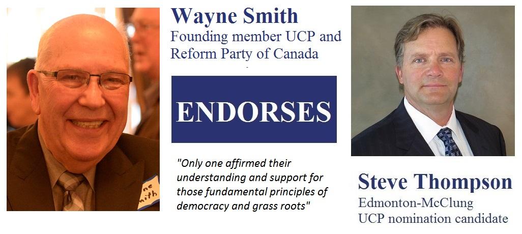 Wayne Smith's endorsement for Steve Thompson