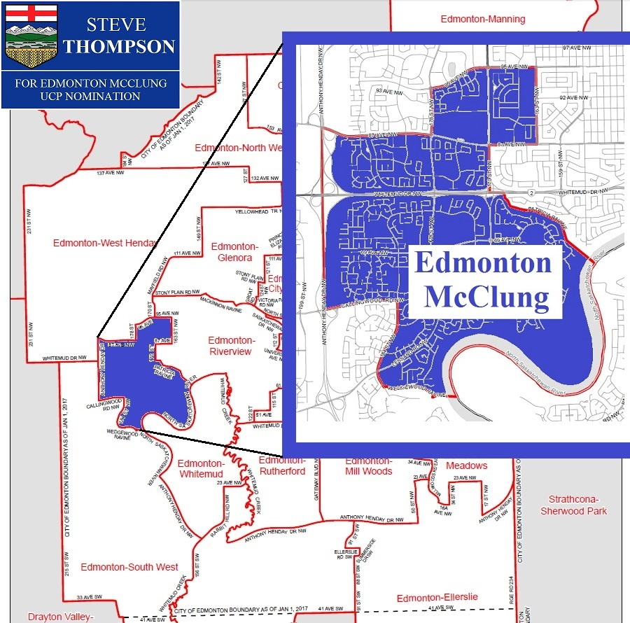 Edmonton electoral map  McClung boundaries