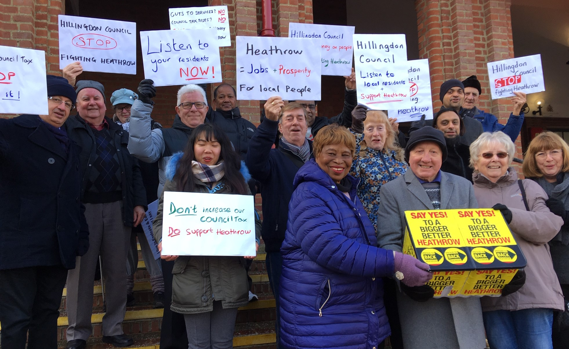 Back Heathrow Hillingdon residents at the civic centre
