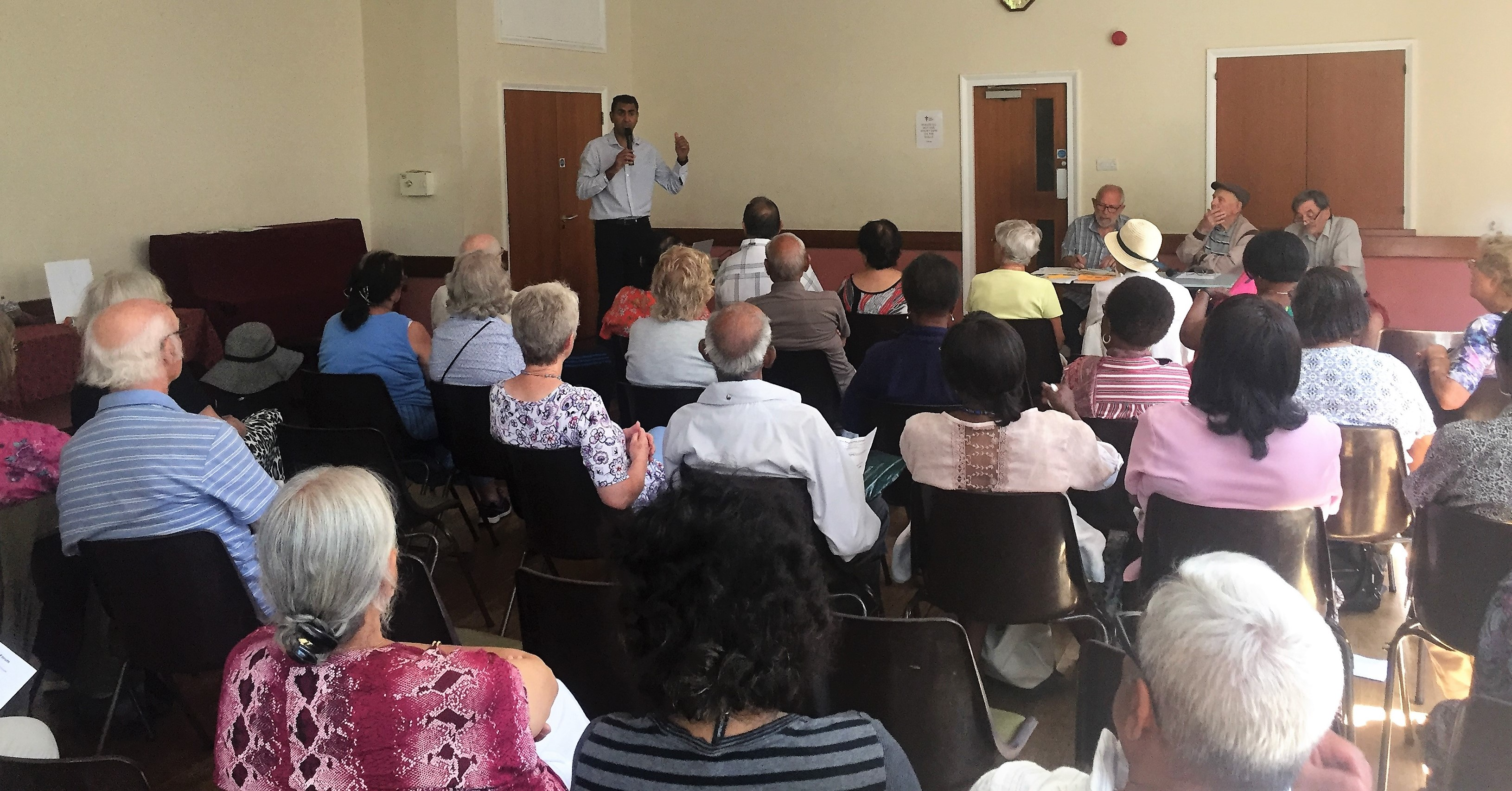 Parmjit Dhanda speaks to the Hounslow Pensioners Association.
