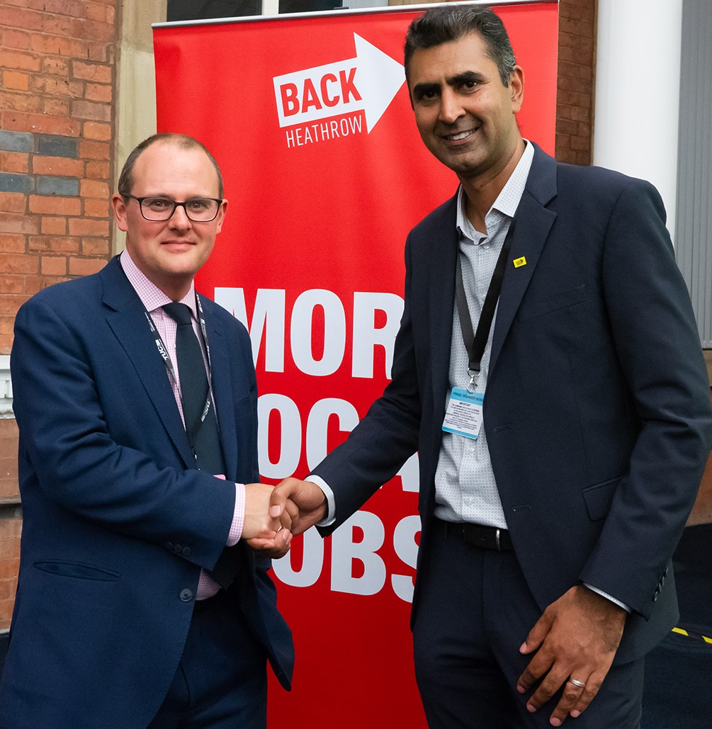 Paul Nowak and Parmjit Dhanda at the TUC Congress on Monday night