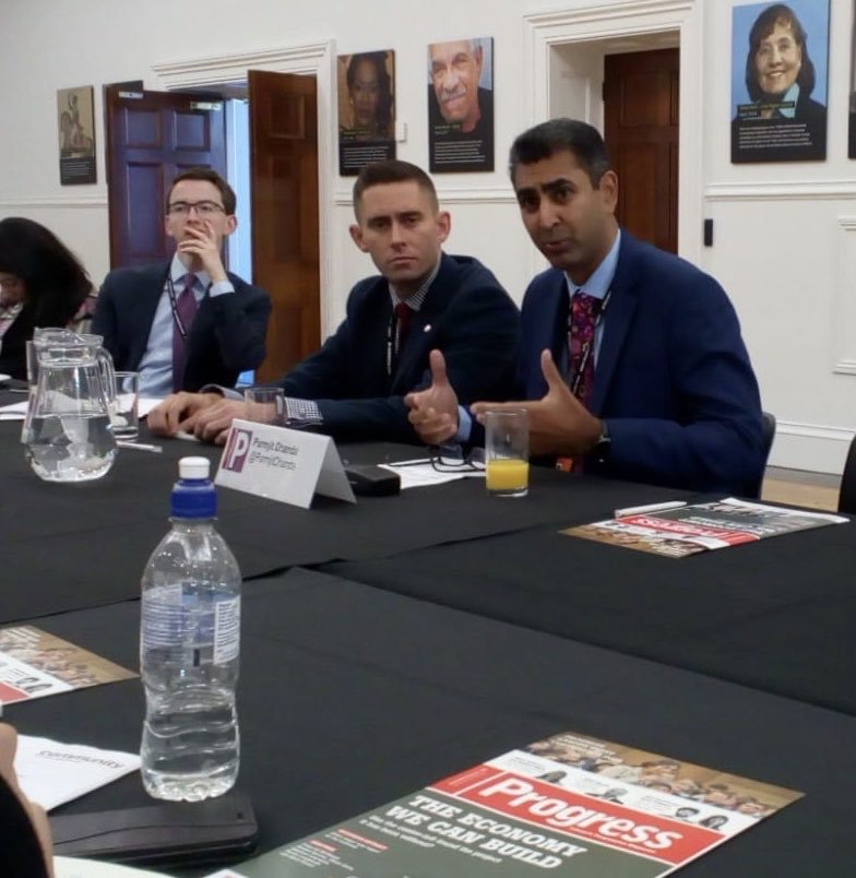 Parmjit Dhanda speaking at the Labour Conference roundtable.