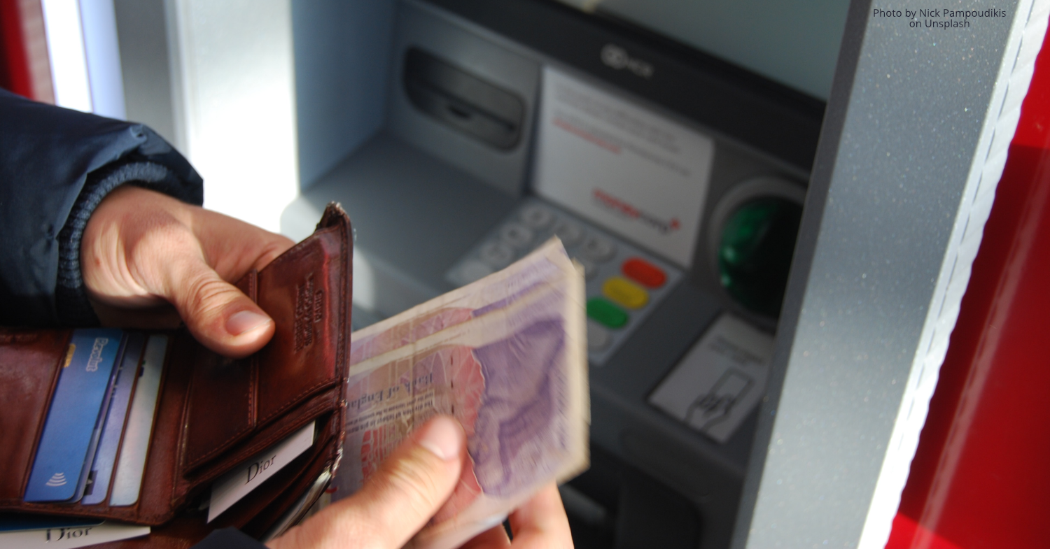 Access to cashpoints