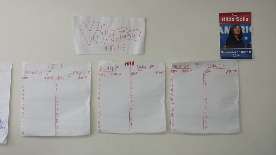 Solis Office Volunteer Wall