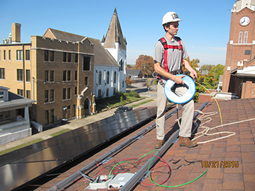Installer on FPC Roof
