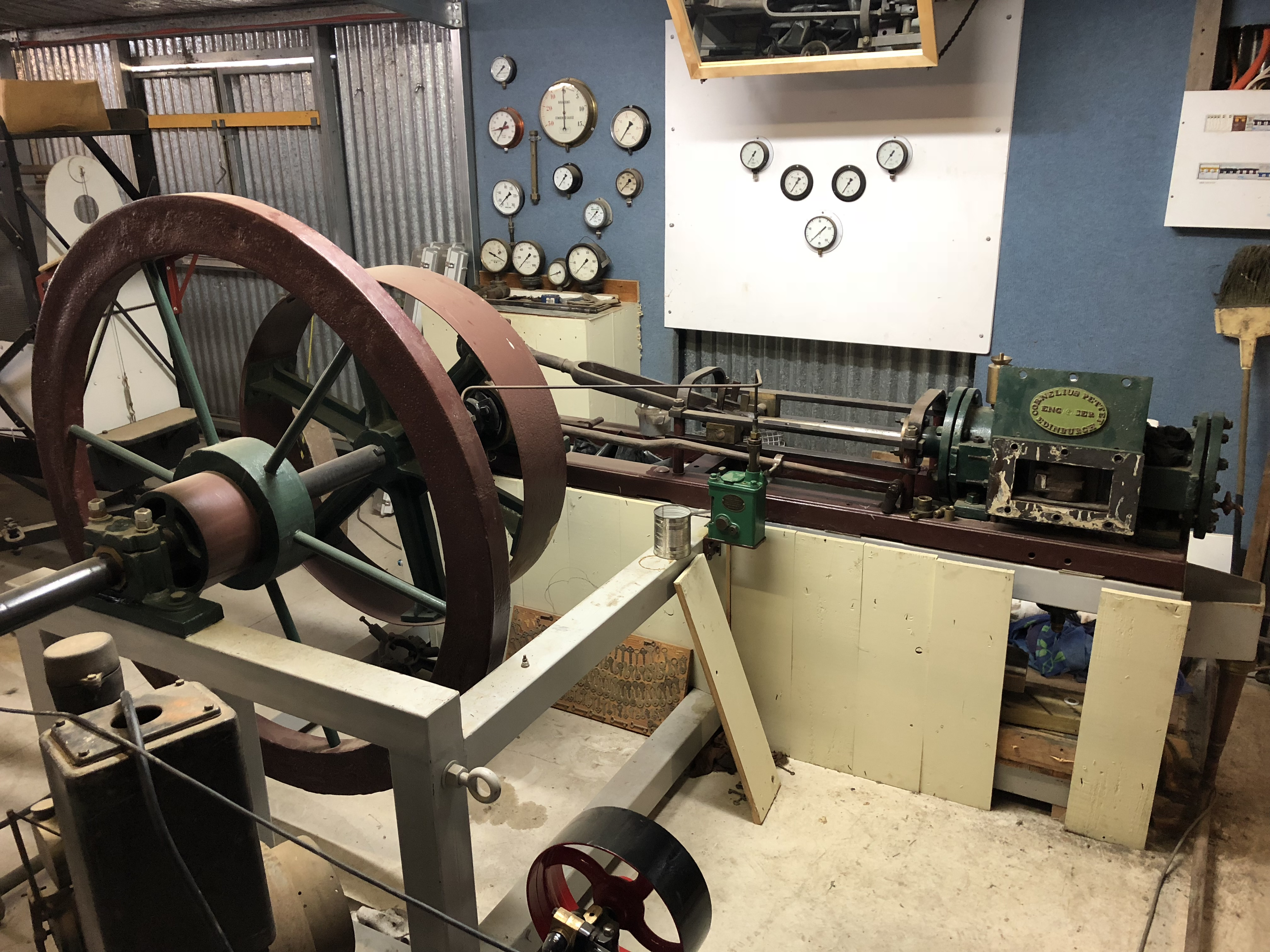 Rare stationery engine in process of being restored