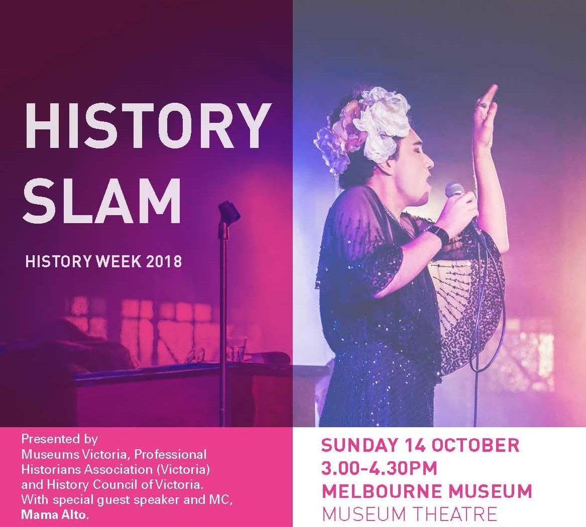 History Slam postcard
