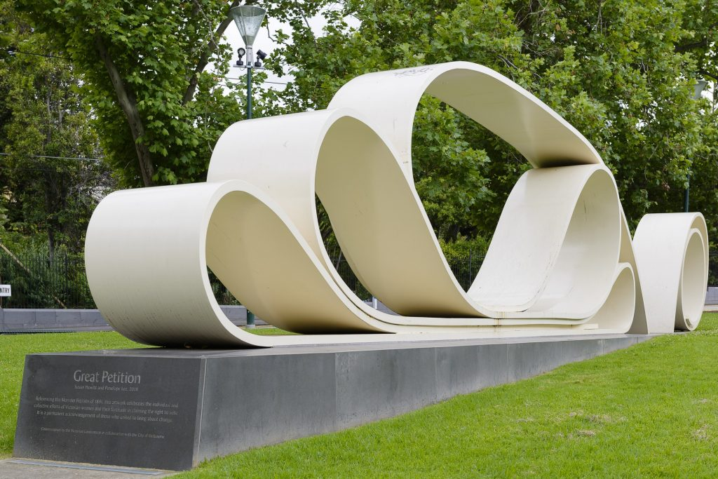 Great Petition - sculpture by S Hewitt and P Lee - courtesy City of Melbourne Art and Heritage Collection