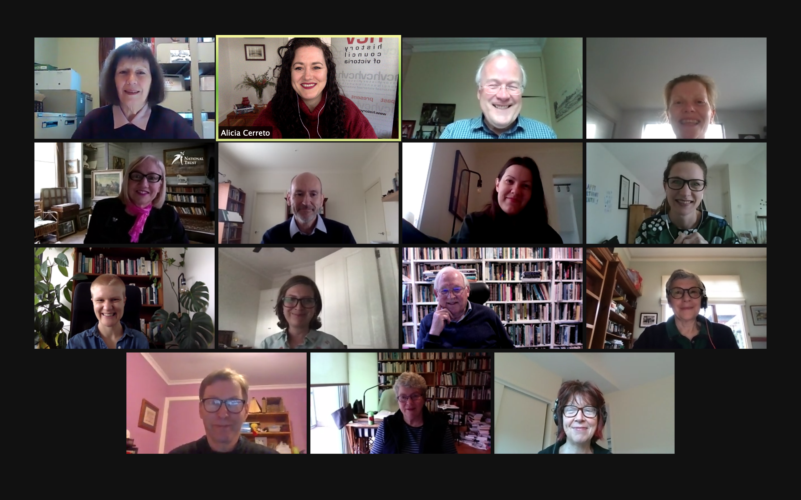 HCV Board members and staff, meeting remotely on 17 September 2020.