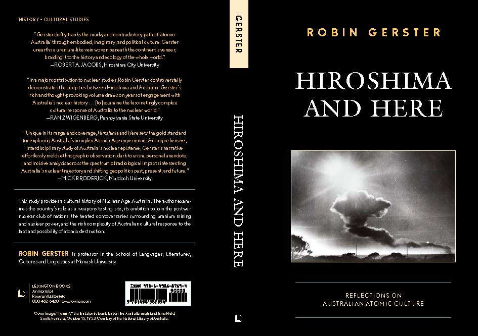 Robin Gerster's book cover - Hiroshima and Here (2020)