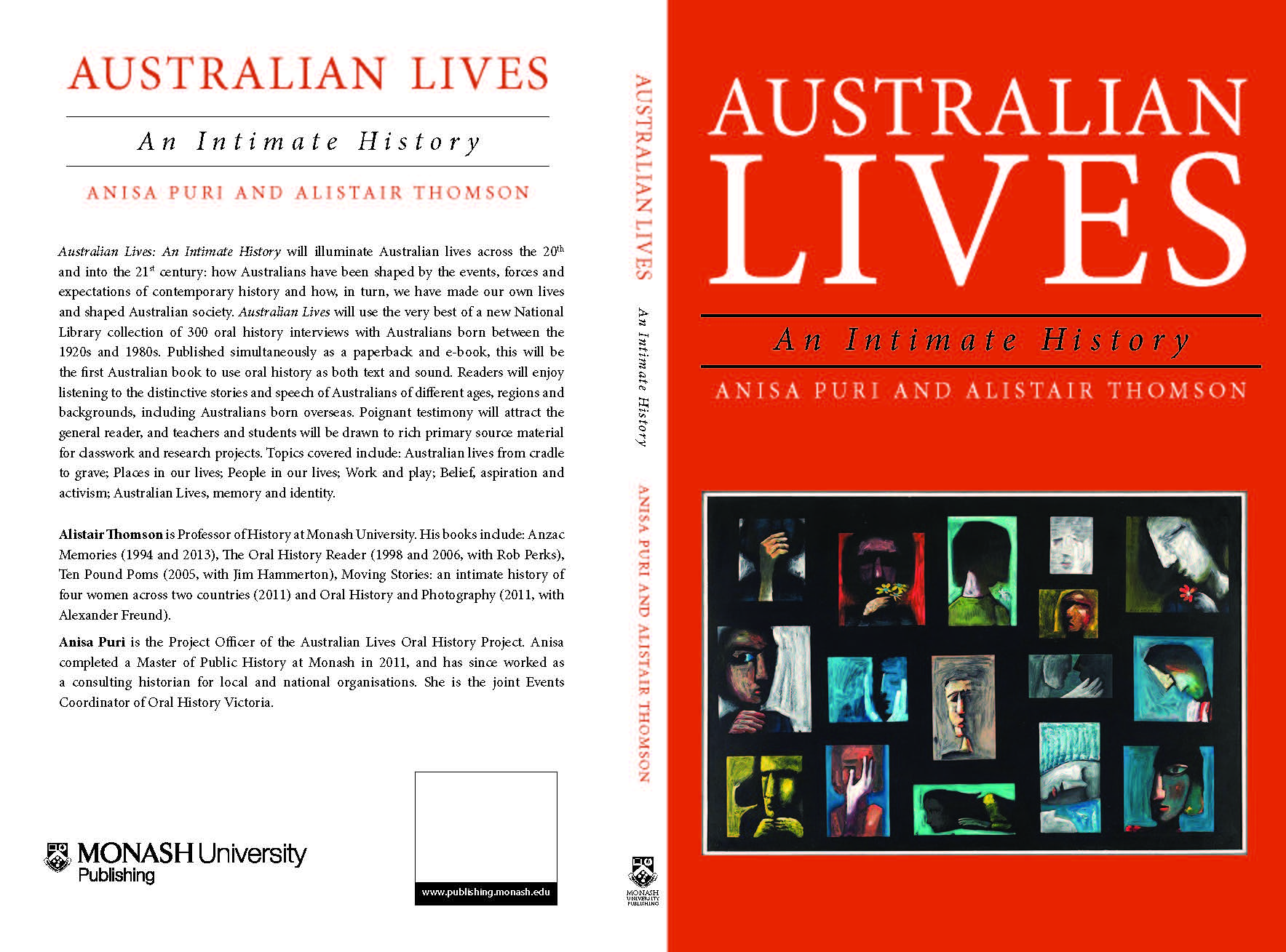 Cover design for Australian Lives