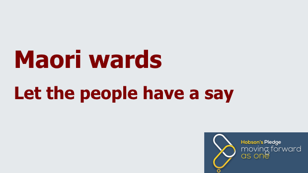 We want a vote on Maori wards
