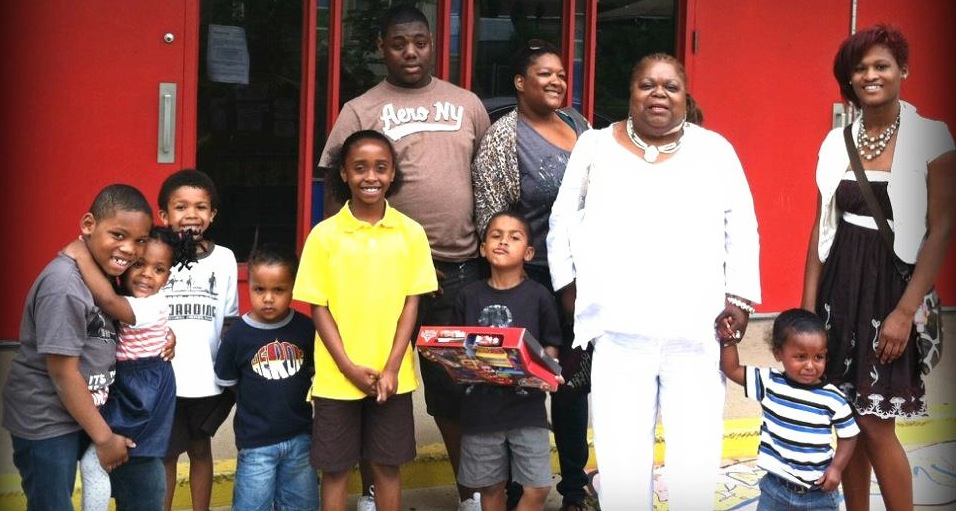 North Minneapolis resident Ruby Brown and her family
