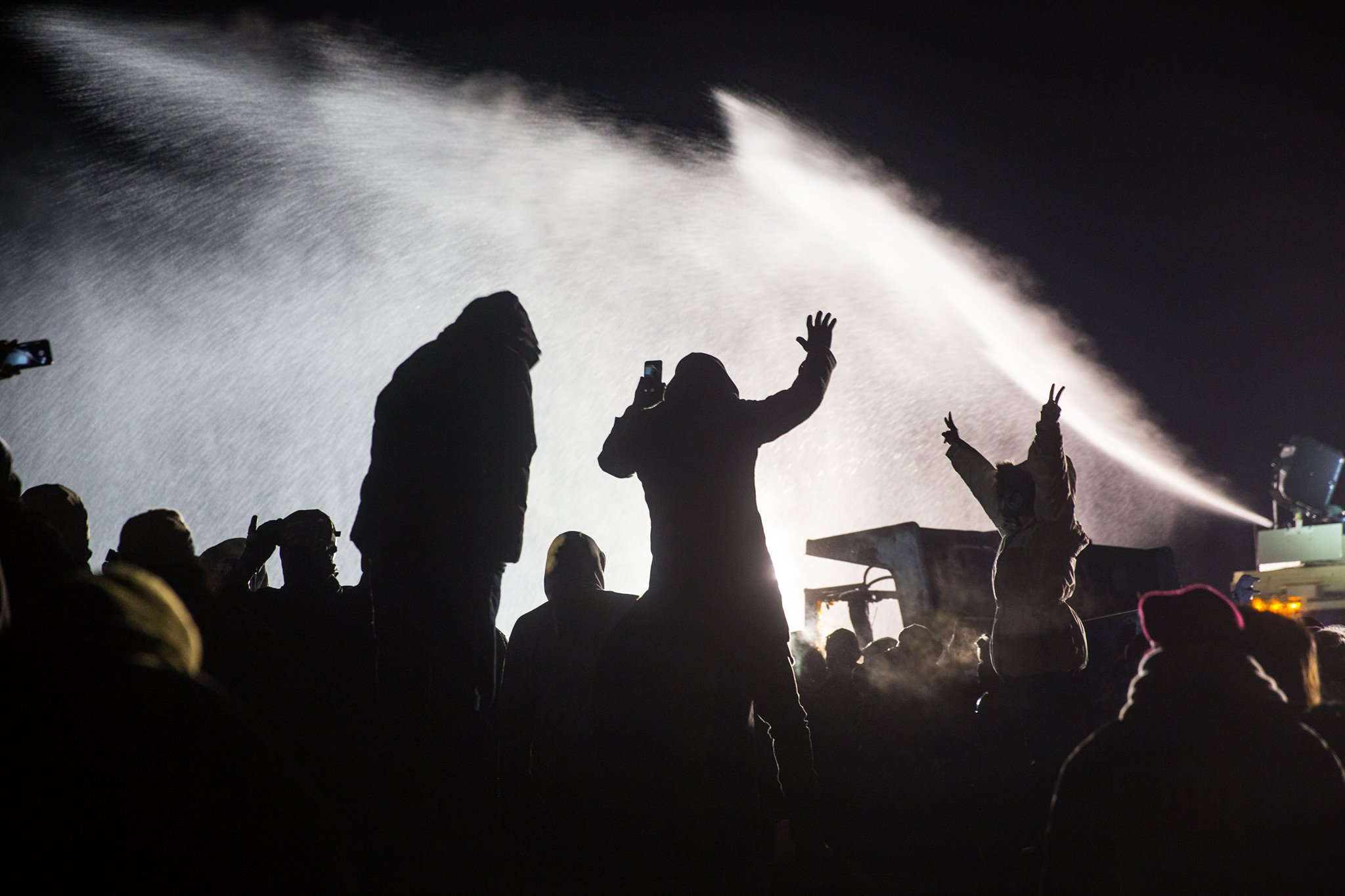 Water Cannons Fired at Water Protectors in Freezing