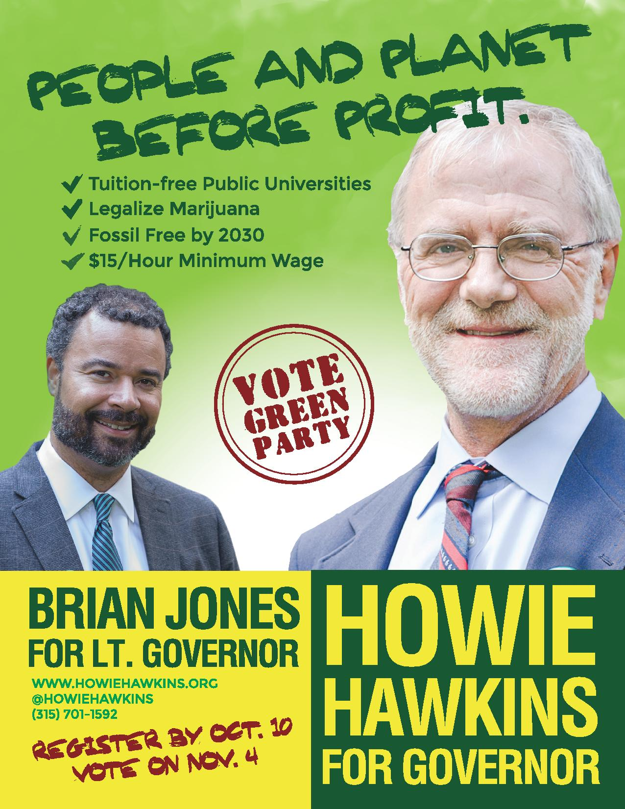 Vote Green Party for NY Governor