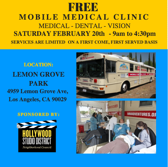 HSDNC Free Medical Clinic Lemon Grove Park