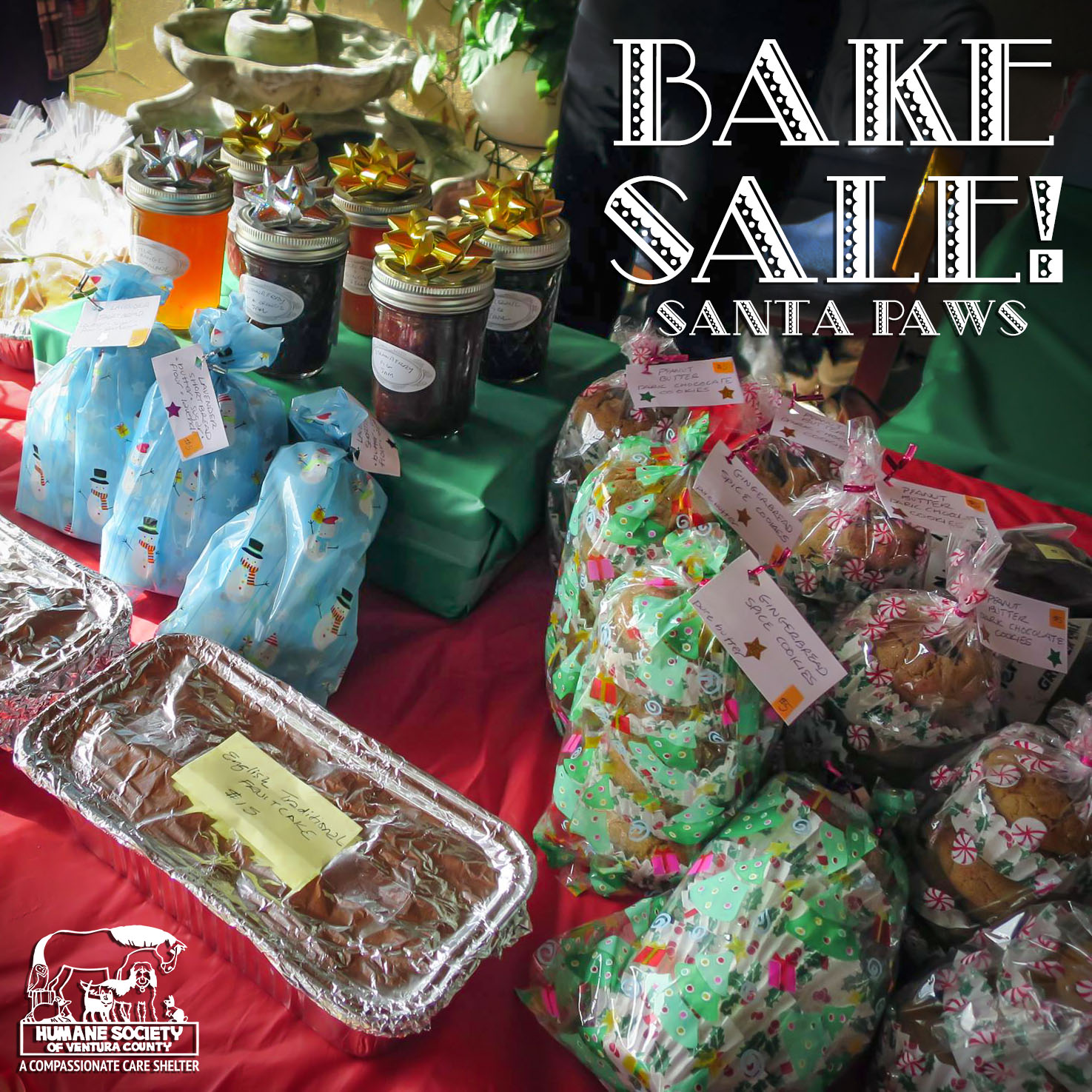 holiday bake sale humane society of ventura county