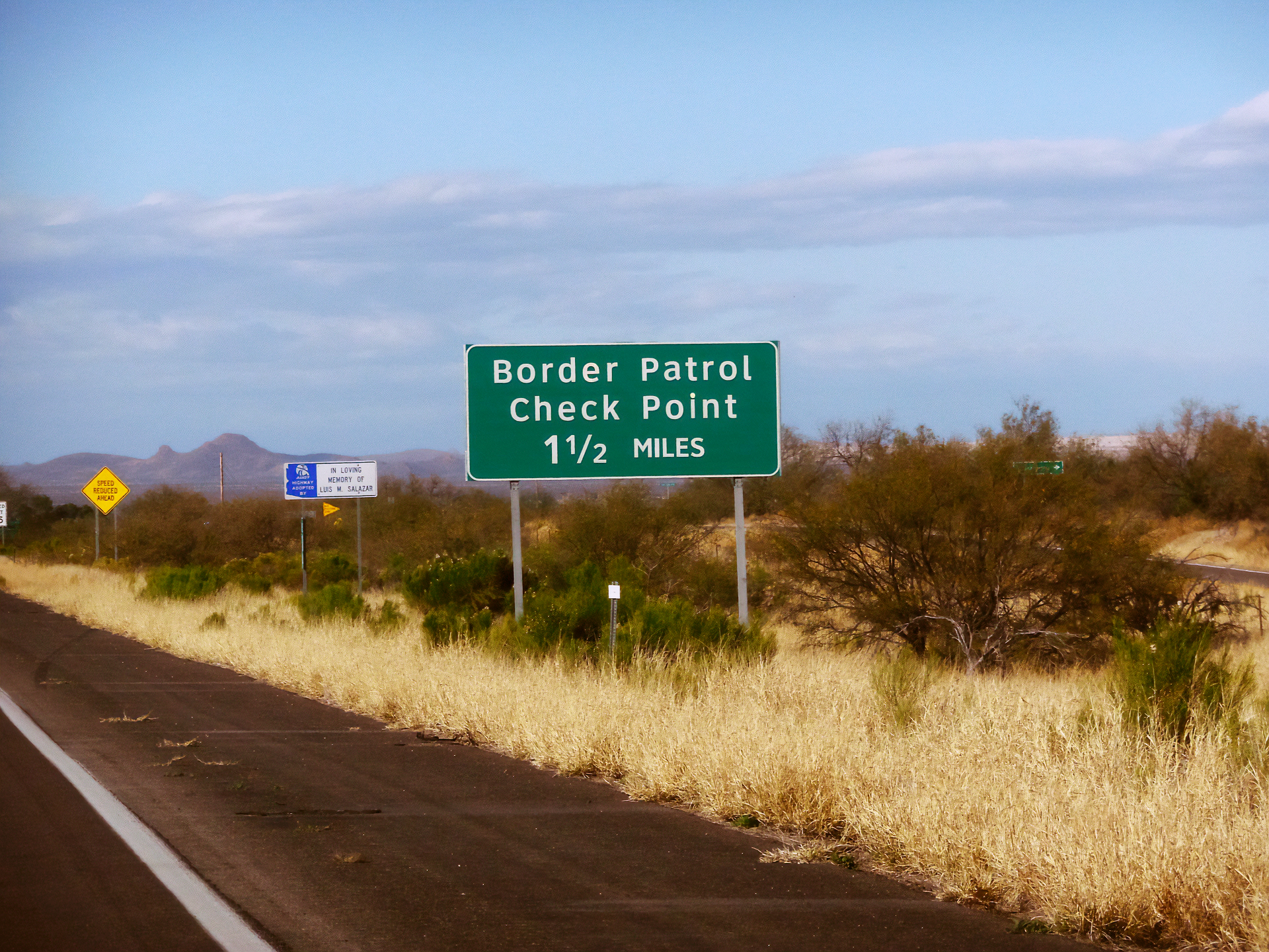 The border sign