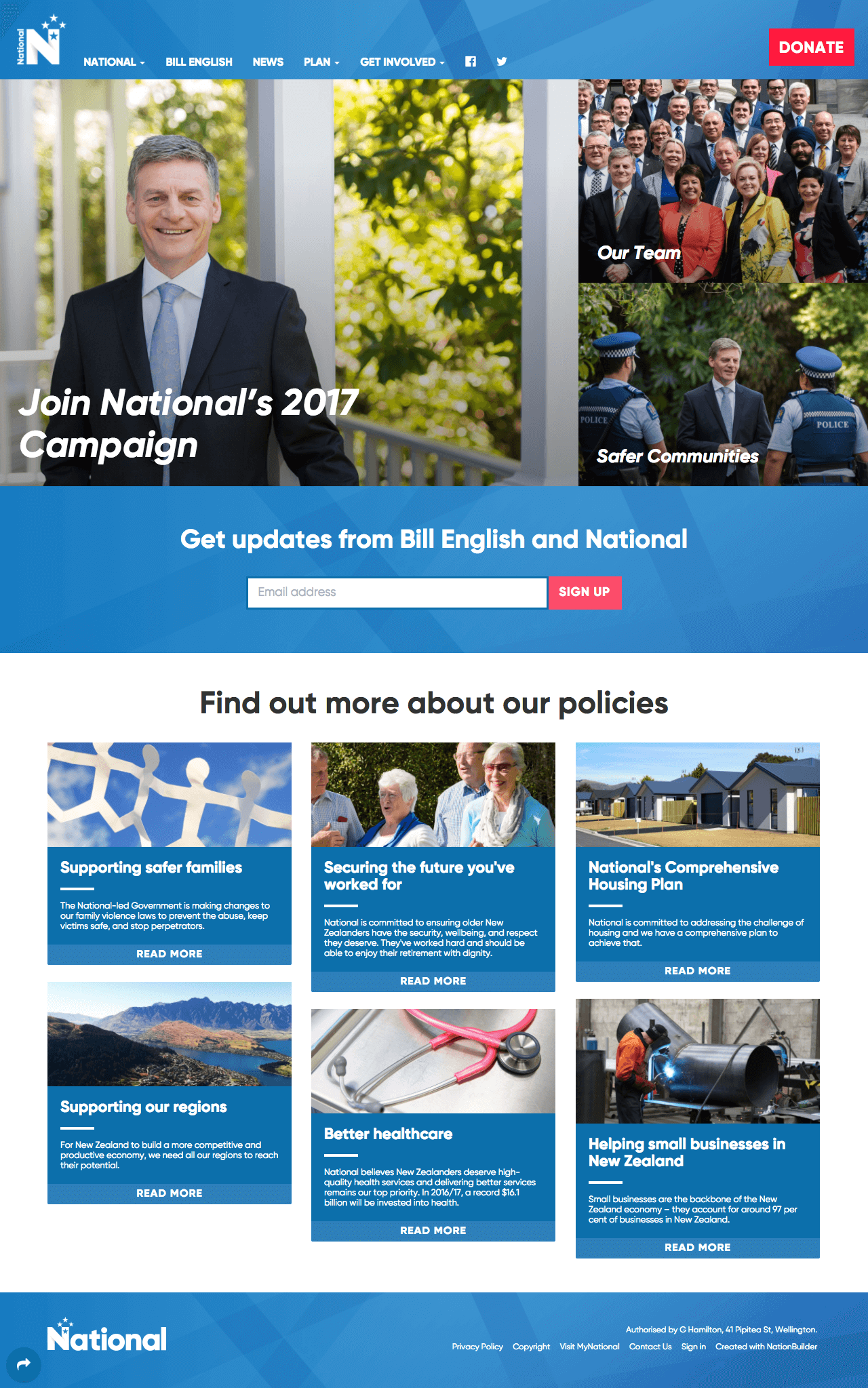 Featured Work: The National Party of New Zealand