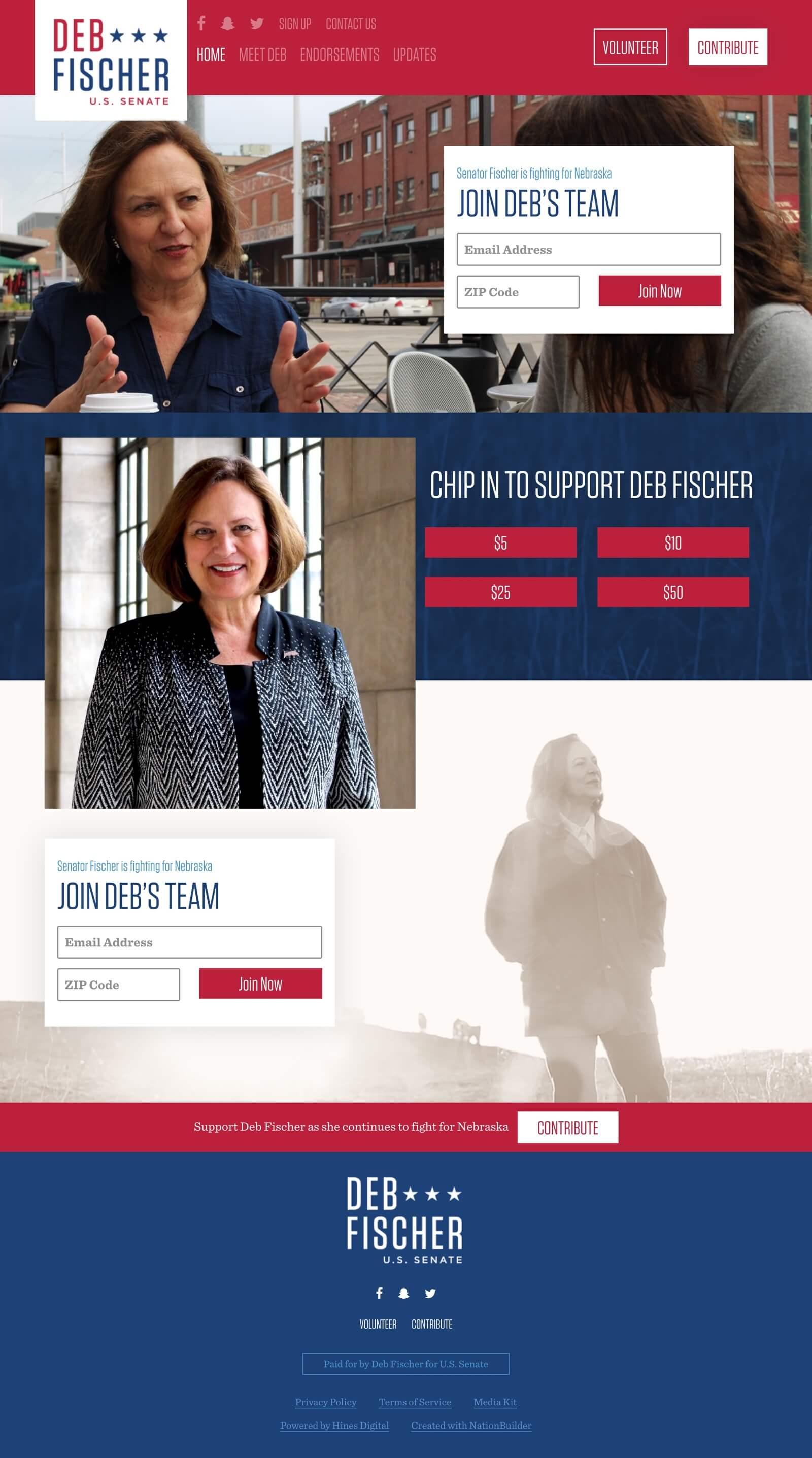 Featured Work: Deb Fischer for U.S. Senate