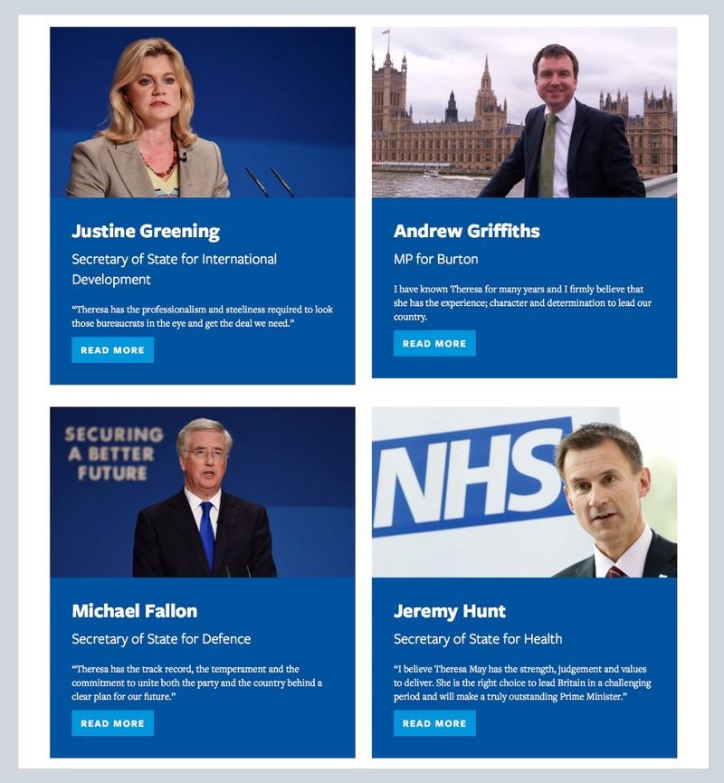 Screenshot: Endorsements first