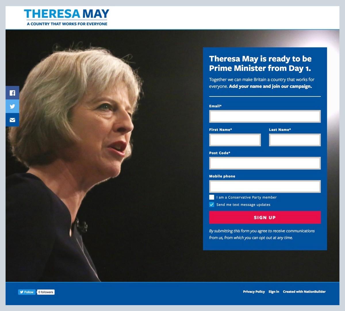 Screenshot: Launch Day Homepage