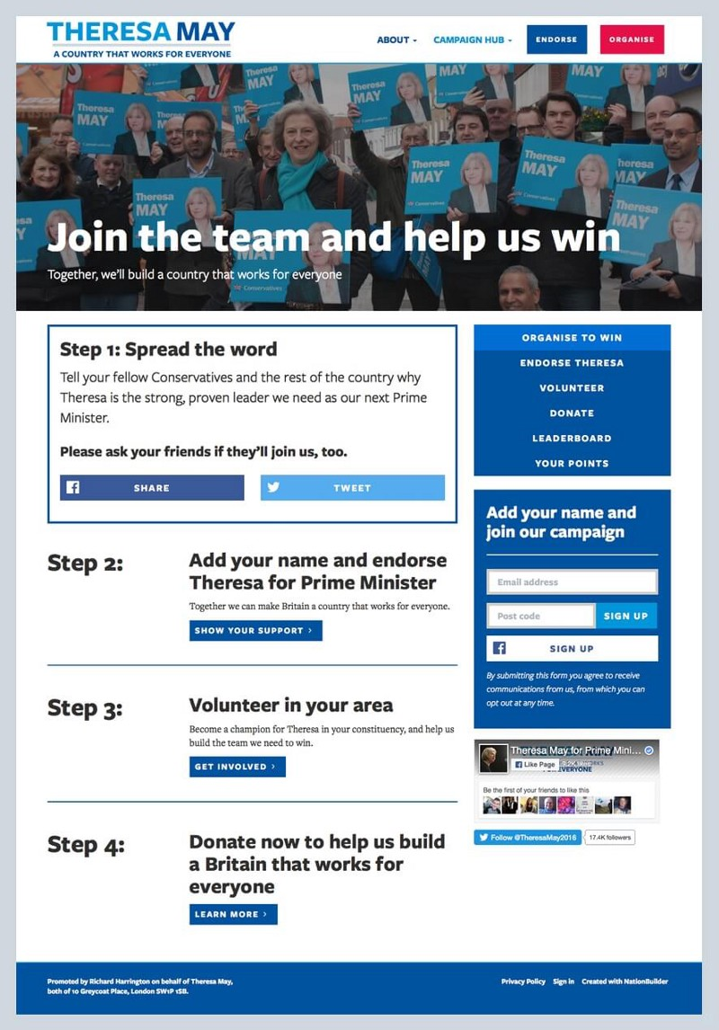 Screenshot: Organized to win