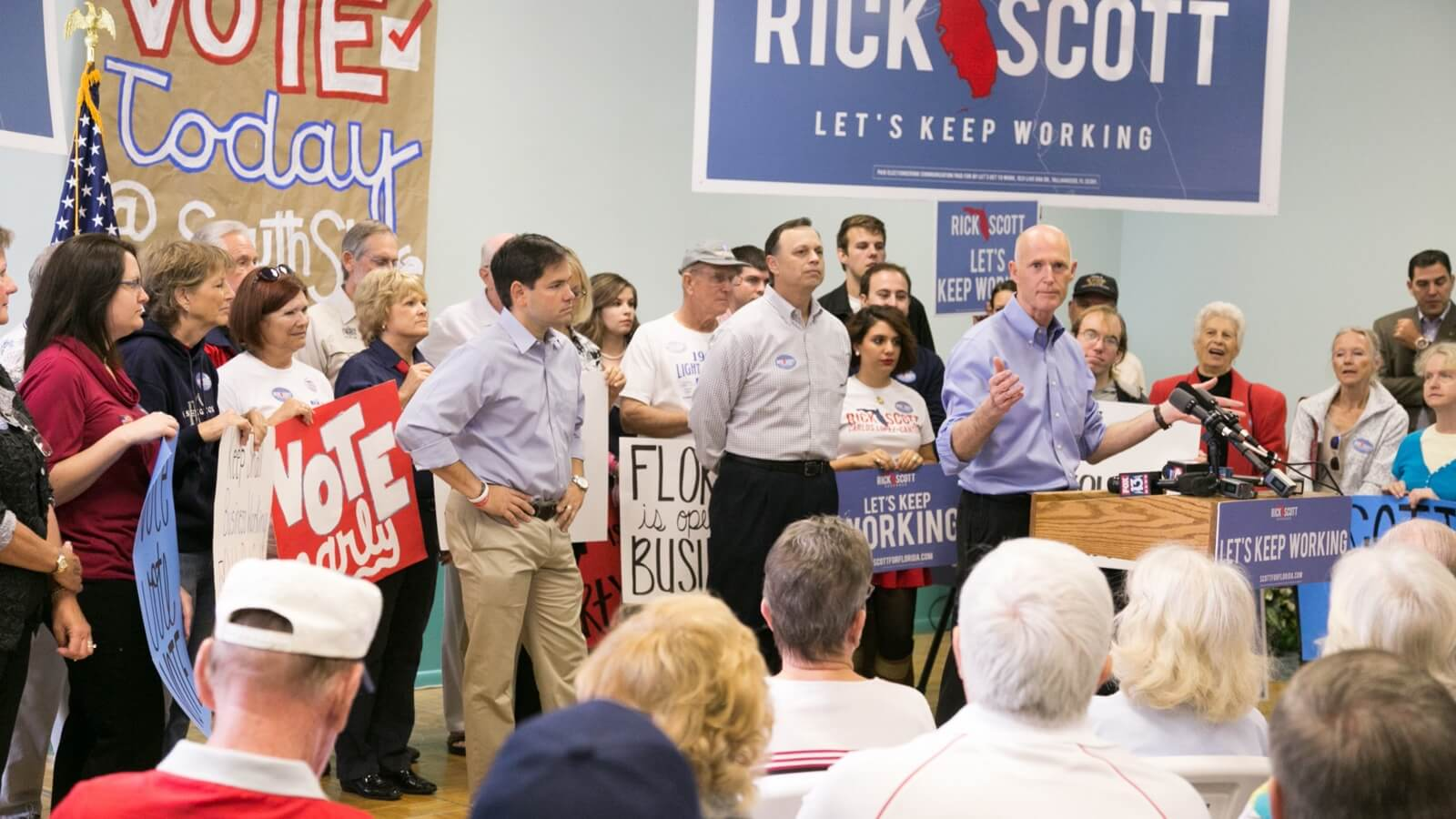 Photo: Former Florida Governor Rick Scott and Senator Marco Rubio.