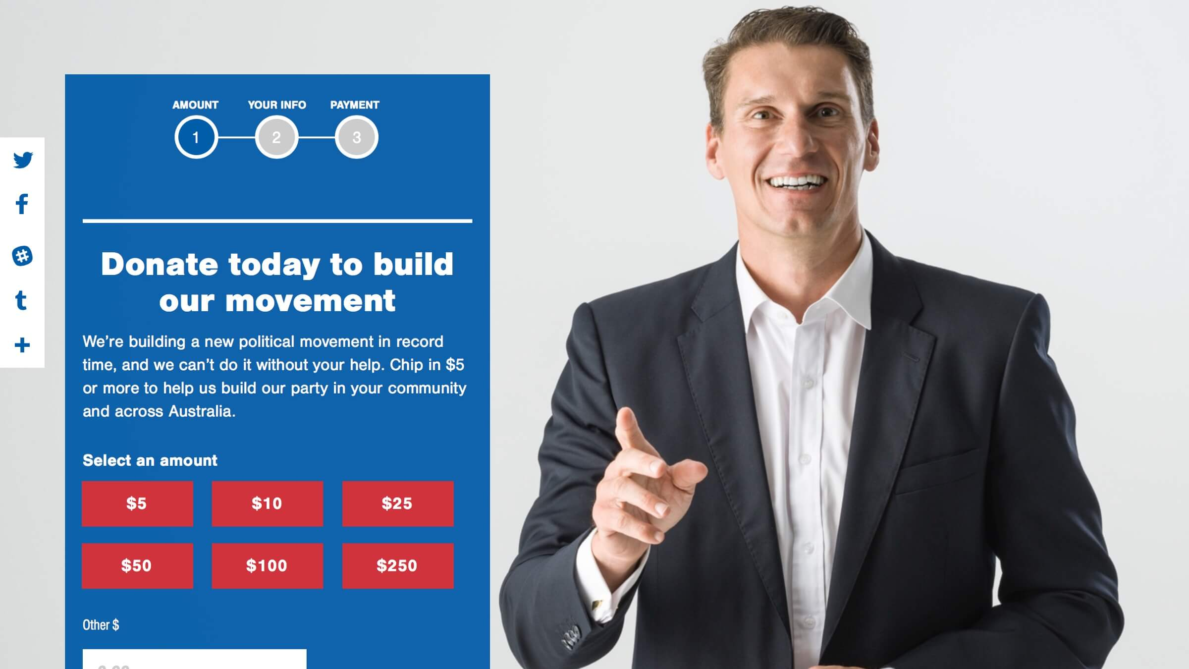 Australian Conservatives' donation page. (July 2017)