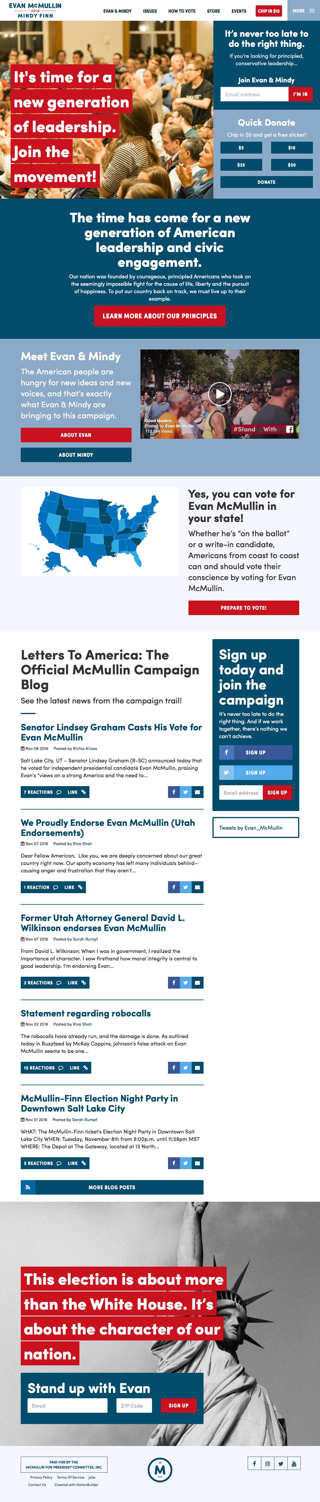 Screenshot: Homepage