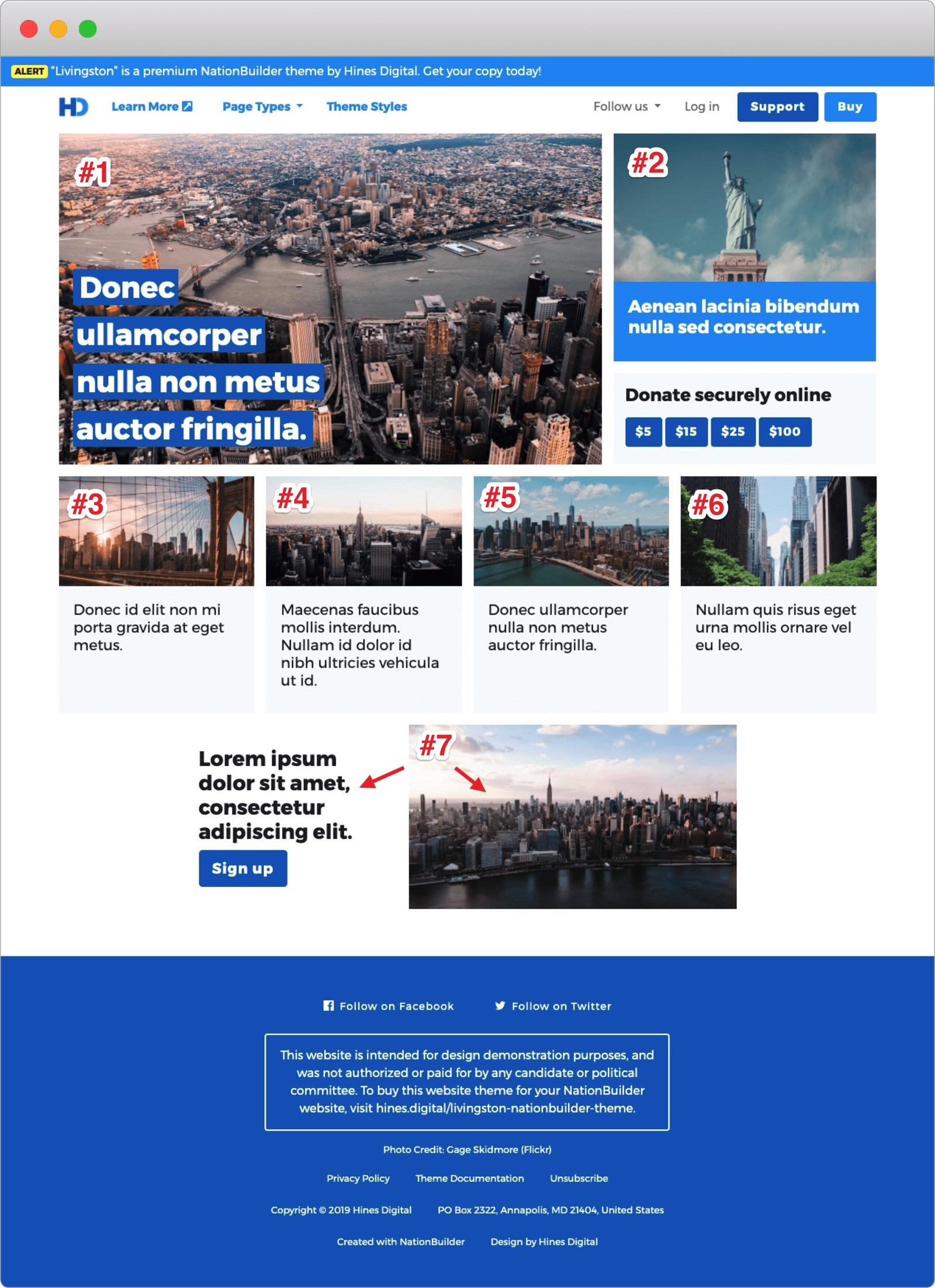 Screenshot: Livingston Homepage