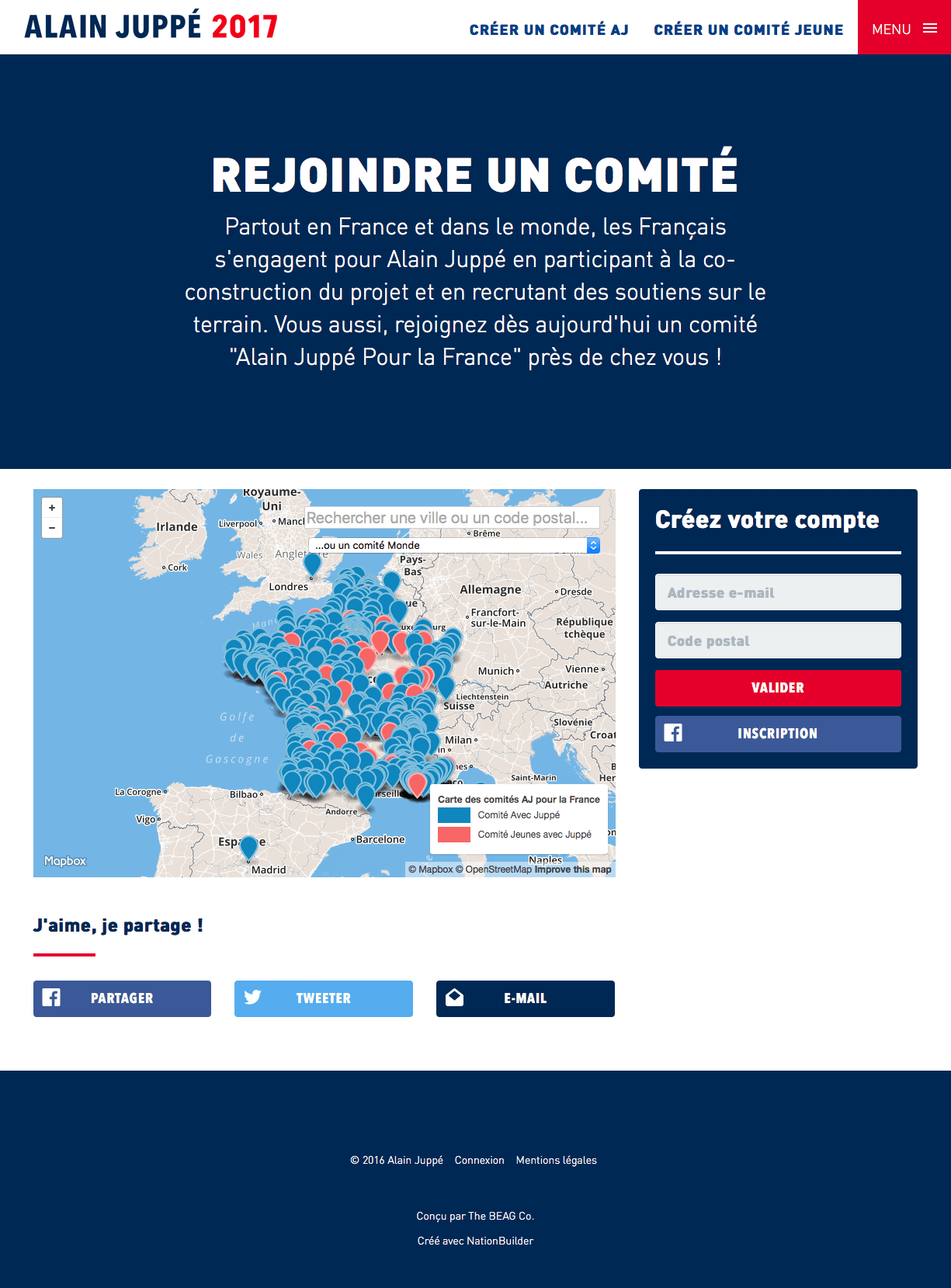 Screenshot: Rejoindre Un Comité