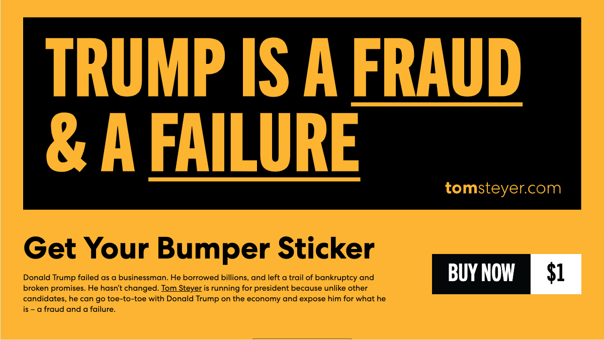 Tom Steyer Sticker