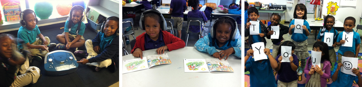 students with reading materials