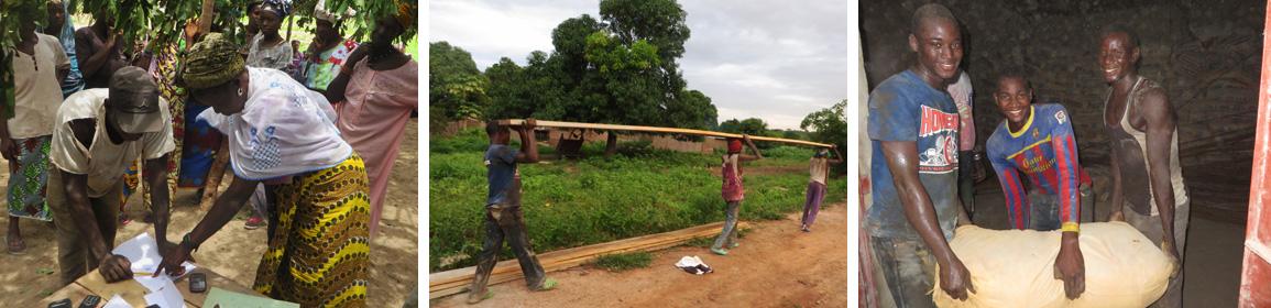 Volunteers Building the New School
