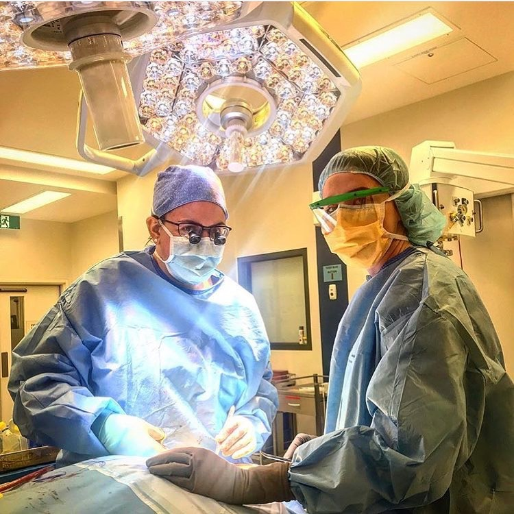 Ruth Mitchell in the operating room.