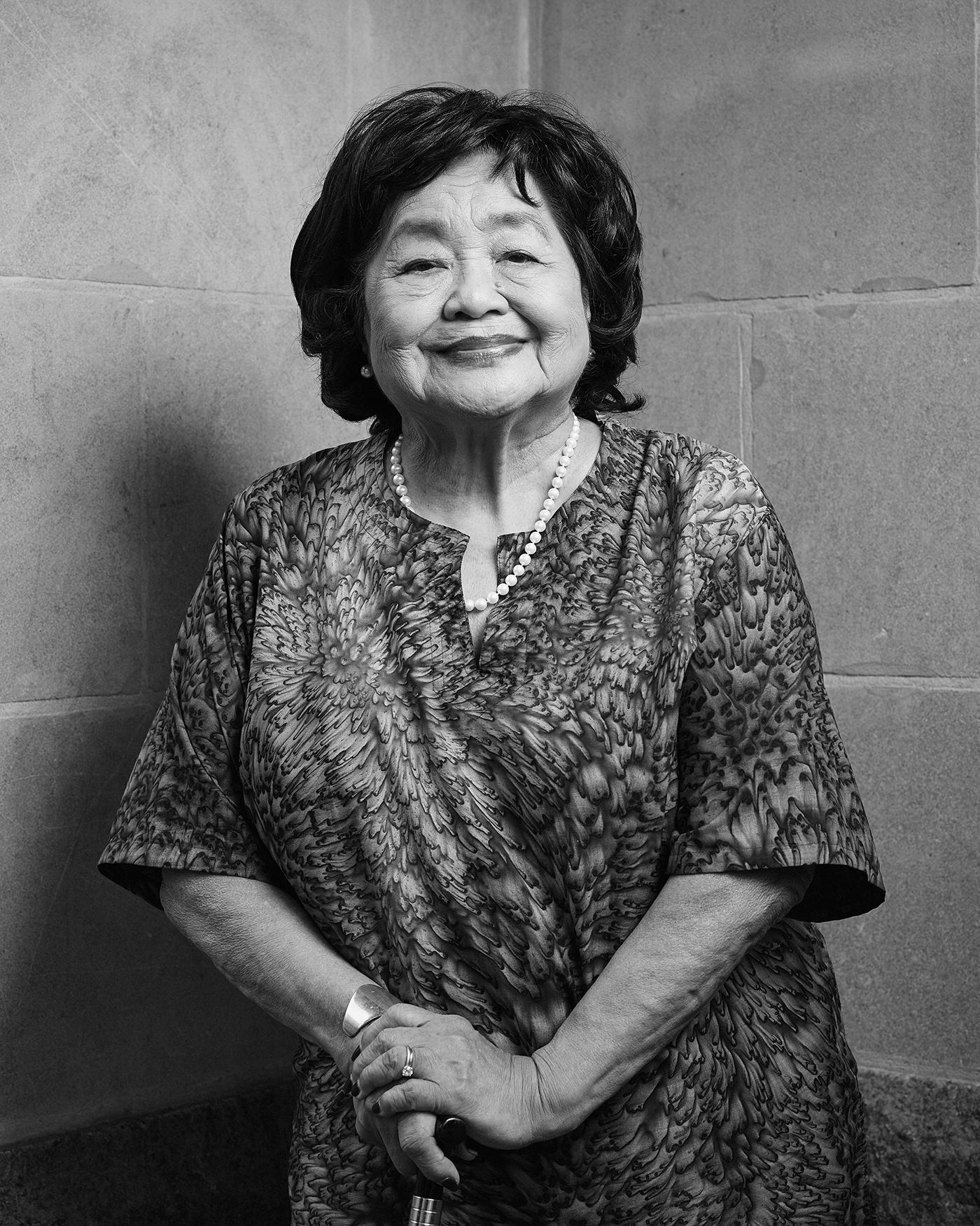 Portrait of Setsuko Thurlow - The Peace Builders - Michael Barker