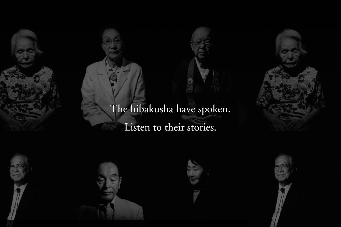 The Hibakusha have spoken, hear their stories. Photo: Haruka Sakaguchi