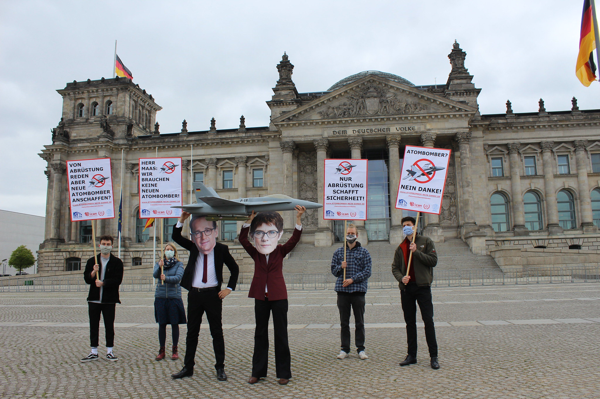 German Campaigners protesting against new fighter jets