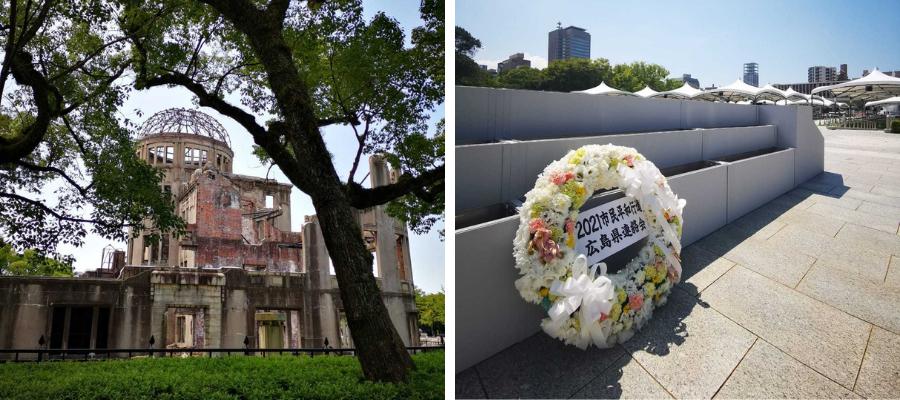 Photos of the Hiroshima Memorial peace park. photo credit: Peace Boat
