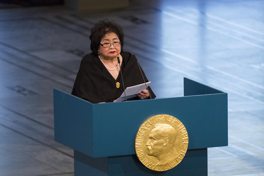Setsuko Thurlow delivers Nobel lecture 2017