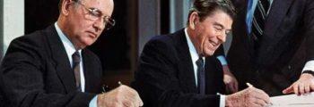USA og Sovjets statsledere diskuterer avskaffing