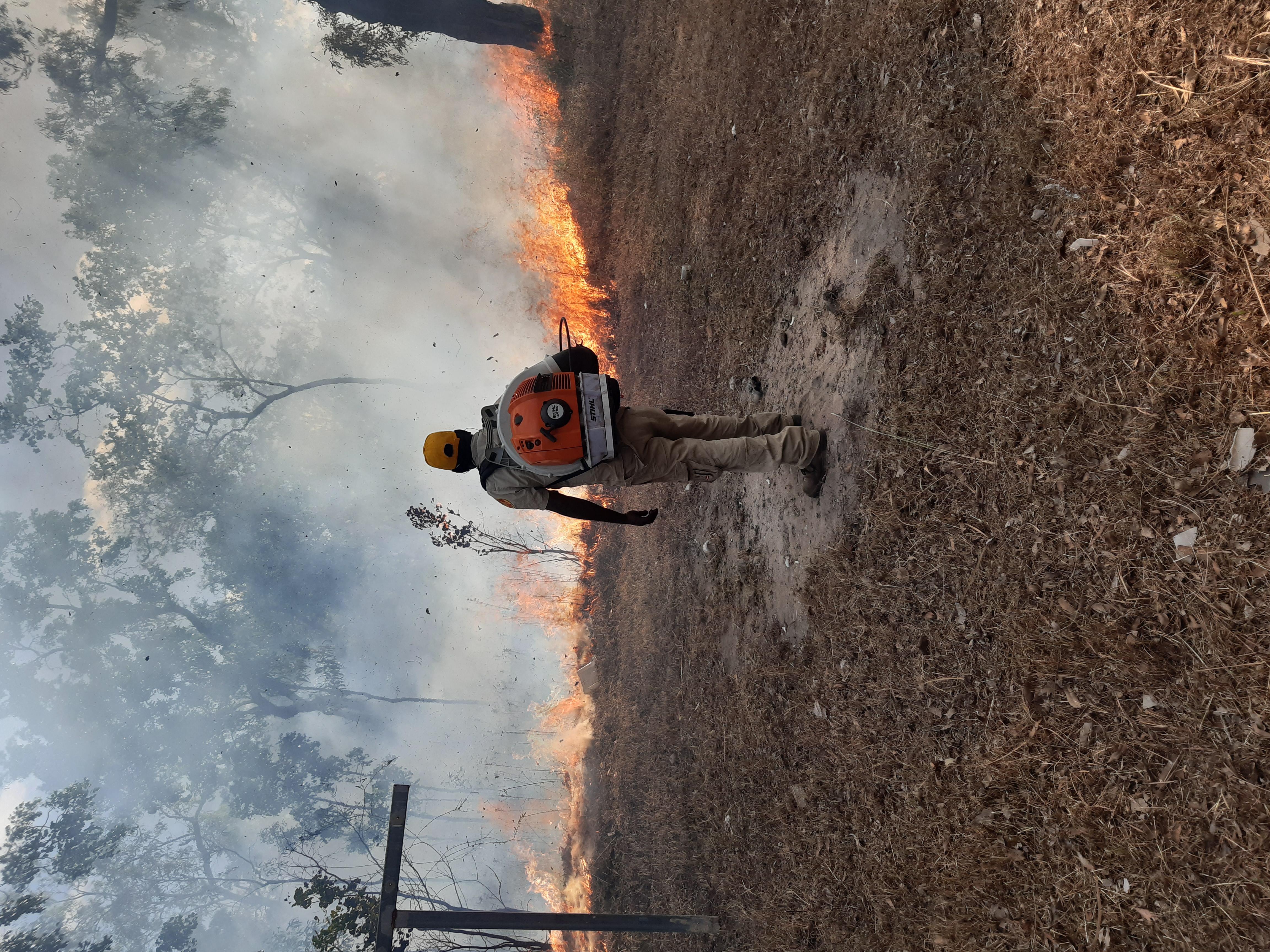 Yirralka Rangers burning near Gan Gan Laynhapuy