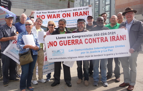 ICUJP Iran war protest June 2019