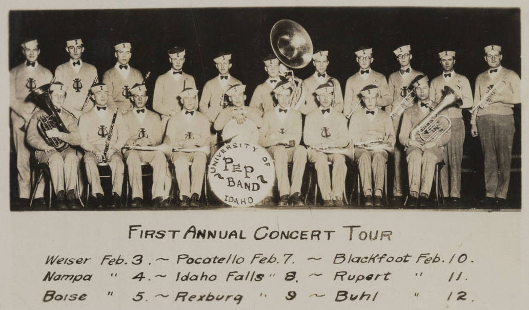 vintage idaho pep band