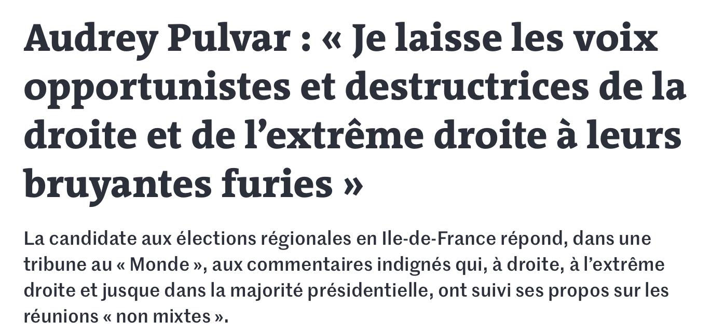 Audrey PULVAR le monde Ile de France en commun